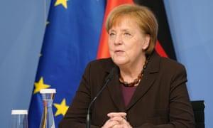 Chancellor Angela Merkel at a meeting this week.