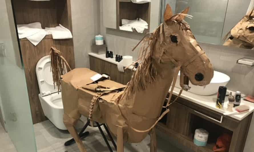 David Marriott's paper horse