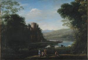 The Past: Claude Lorrain (1604/05-82), River Landscape with Herdsmen, c. 1630.