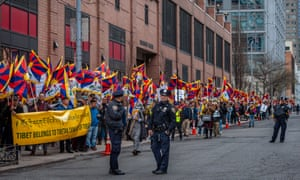 Tibetans commemorate the 1959 Tibetan Uprising against the invasion of Communist China with a rally in Dag Hammarskjöld Plaza in New York City in March.