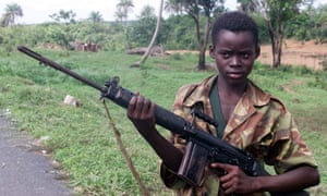 A 2000 image of a 14-year-old soldier in Sierra Leone