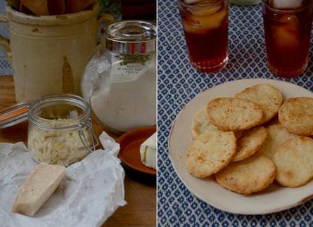 Rachel Roddy's pecorino and almond biscuits.