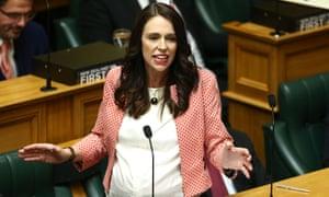 Jacinda Ardern speaks during the 2018 budget presentation in parliament.