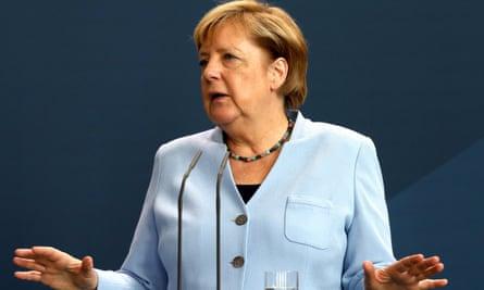 Angela Merkel accused Vladimir Putin of attacking fundamental values.