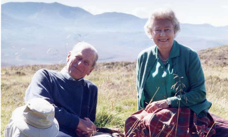 A personal photograph of the Queen and the Duke of Edinburgh at the top of the Coyles of Muick, taken by the Countess of Wessex in 2003.