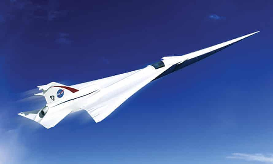 Artist's impression of a possible 'quiet supersonic transport' (Quesst) plane.