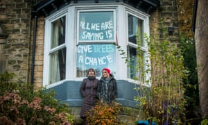 Jenny Hockey and Freda Brayshaw (right) who were arrested after protesting against a tree-felling programme in Sheffield.