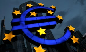 Sign outside the European Central Bank.