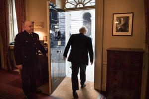 London, UKBoris Johnson leaves 10 Downing Street ahead of an audience with the Queen and the formal start of the general election
