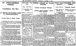 Manchester Guardian, 1 October 1938.