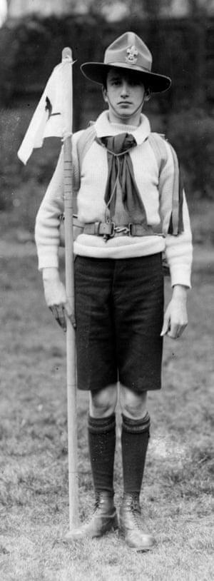 A Boy Scout in 1910.