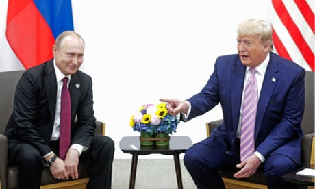 Trump tells Putin: don't meddle in the US presidential election - video