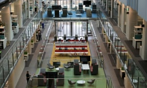 The atrium inside the Francis Crick Institute, which some people say makes noise travel to where they are working.
