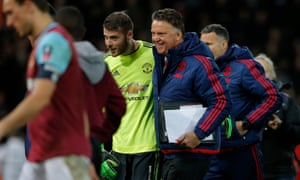 Manchester United boss Louis van Gaal is all smiles