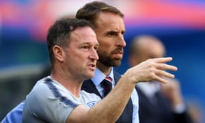 Steve Holland, part of England's coaching staff, is pictured here with Gareth Southgate at the World Cup.