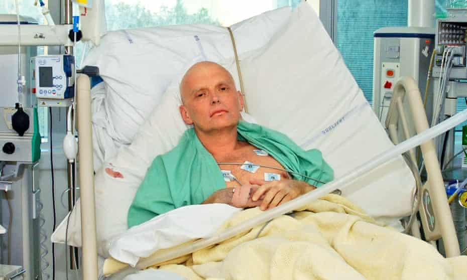 Alexander Litvinenko in the intensive care unit of University College Hospital, London, on November 20, 2006. He died three days later.