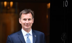 Jeremy Hunt, the foreign secretary, leaves No 10, an address he is hoping to make his residence.