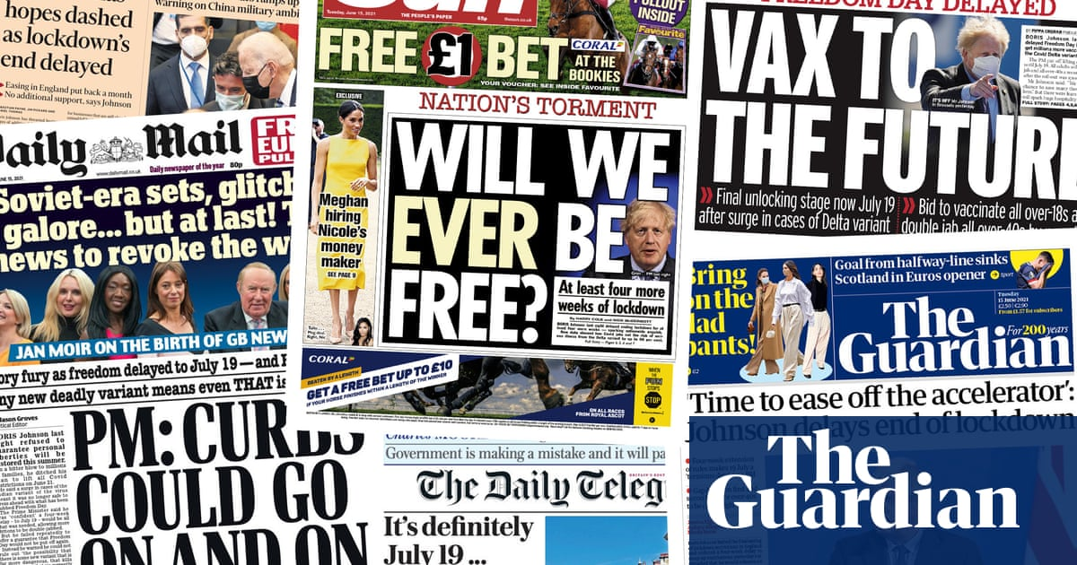 'Will we ever be free?' What the papers say about the 'Freedom Day' delay