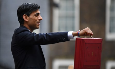 Rishi Sunak leaves 11 Downing Street ahead of the delayed budget in March 2020