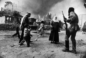 Massacre at Quarantaine in Beirut, Lebanon, 1976