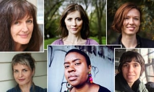 (Clockwise from top left) Joan London, Christine Kenneally, Emily Bitto, Sofie Laguna, Maxine Beneba Clarke and Ellen Van Neerven.