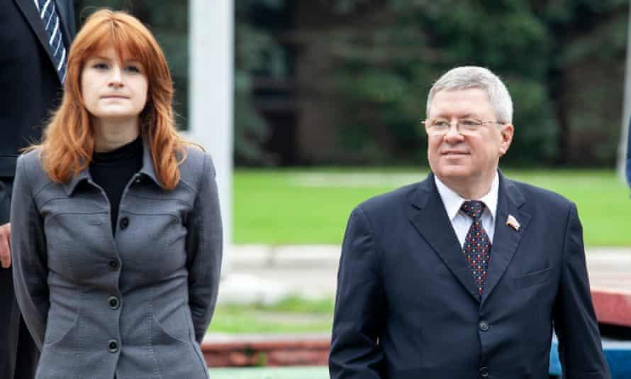 Maria Butina and Alexander Torshin in 2012.