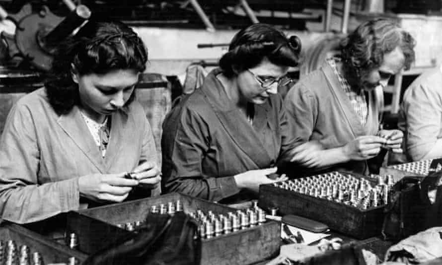 Women working in a British munitions factory during the second world war