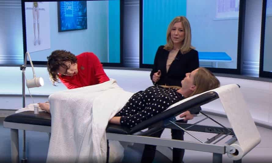Chloe Delevingne has a smear test live on the BBC's Victoria Derbyshire show