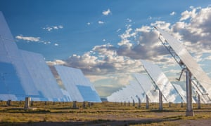 Crescent Dunes solar energy plant in Nevada