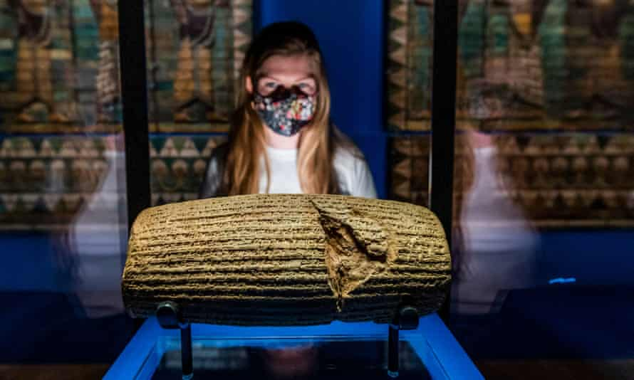 The Cyrus Cylinder (539-538 BC), from the British Museum.