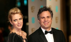 Mark Ruffalo and his wife Sunrise Coigney attending the EE British Academy Film Awards in London in 2016