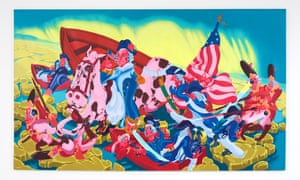 Peter Saul, Washington Crossing the Delaware, 1975.