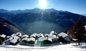 Chandolin in south-western Switzerland.