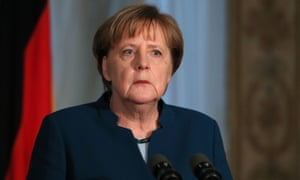 Angela Merkel in Dublin yesterday