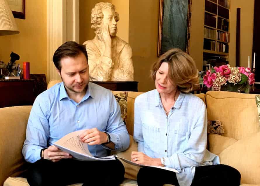 Marita Phillips and the opera's composer, Konstantin Boyarsky .