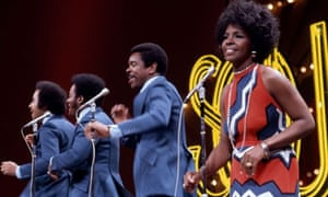 Gladys Knight and the Pips performing on Soul Train in the 1970s.