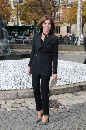Carine Restoin-Roitfeld, who has designed a range for Uniqlo.