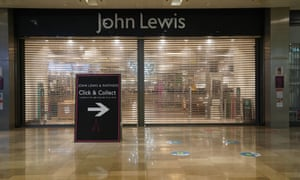 A John Lewis store in the Westfield Shopping Centre in Stratford, London