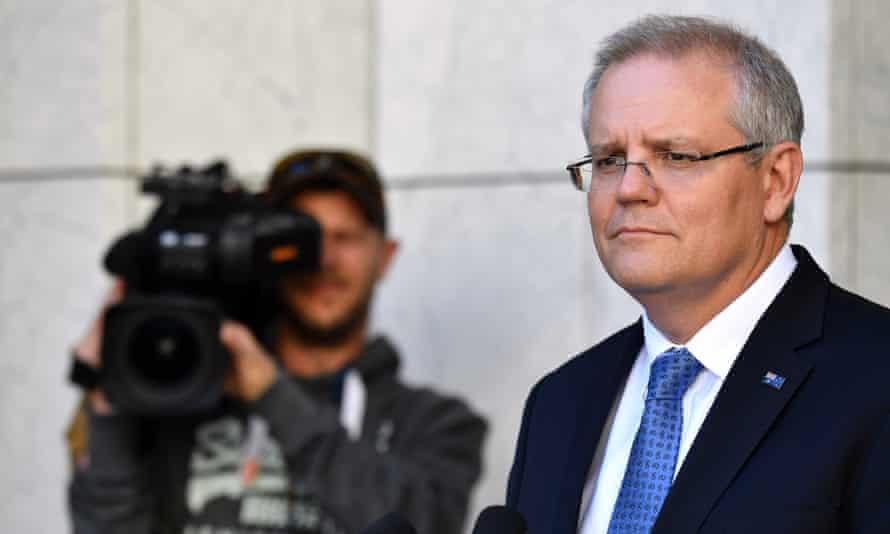 Scott Morrison at Parliament House in Canberra