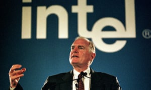 Craig Barrett, president and CEO of Intel Corporation in the 90s when it ruled the market with Microsoft.