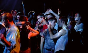 'Sensual': Nahuel Pérez Biscayart (striped shirt) and Arnaud Valois (white vest) in 120 Beats Per Minute.