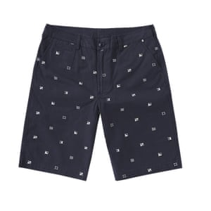 dark bllue shorts with white dotted pattern Barbour End Clothing