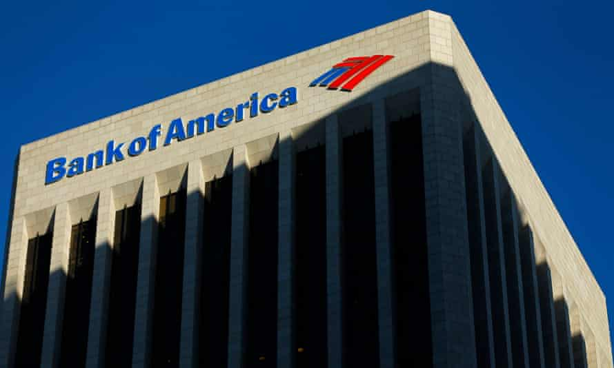 The Bank of America building is shown in Los Angeles, California, in this file photo taken October 29, 2014. Five out of eight of the biggest U.S. banks do not have credible plans for winding down operations during a crisis without the help of public money, federal regulators said on Wednesday. REUTERS/Mike Blake/Files