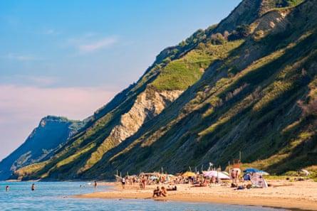 View of the Fiorenzuola di Focara beach