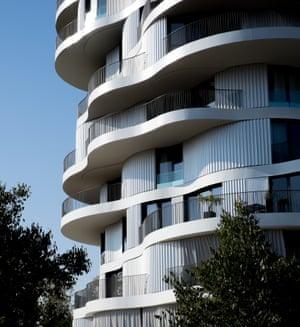 Farshid Moussavi's La Folie Divine, a nine-storey residential building in Montpellier.