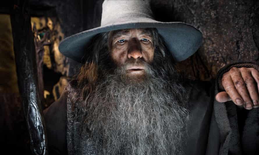 Ian McKellen as Gandalf in The Hobbit.