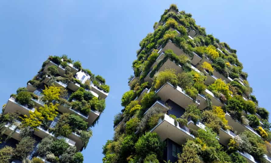 Vertical Forest (Bosco Verticale) residential towers, two award-winning green buildings designed by Boeri Architects in Milan, Italy