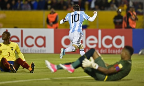 Ecuador 1-3 Argentina: World Cup 2018 qualifier – as it happened