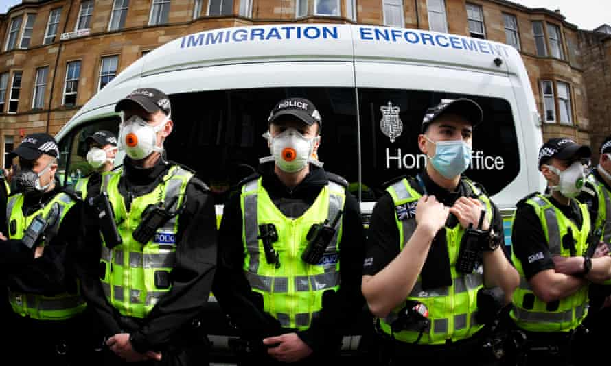 Immigration enforcement van in Glasgow, United Kingdom, 13 May 2021