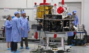 Quantum satellite at the Shanghai Engineering Centre for Microsatellites.